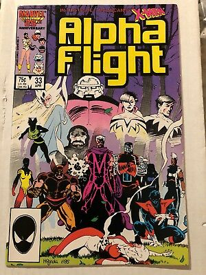 Alpha Flight # 33 Marvel Comics 1986 1st Appearance Lady Deathstrike X-Men