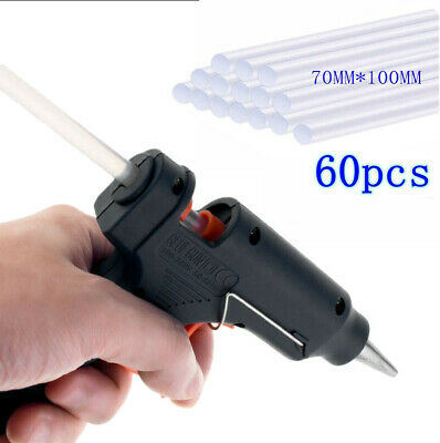Electric Heating Hot Melt Glue Gun with 60 Mini Clear Glue Sticks for Arts Craft