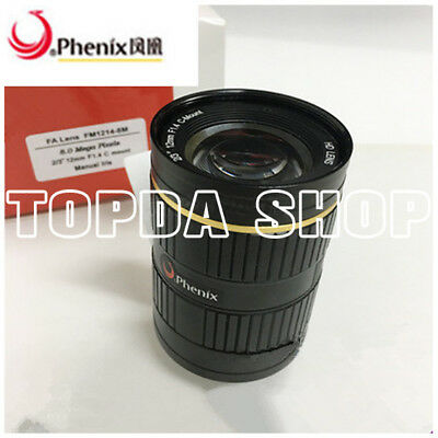 "FM2514-8M 25mm 8Megapixel 2/3"" F1.4-22 CS Manual aperture industrial  Lens#SS"
