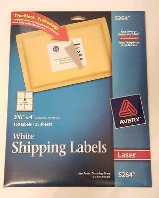 avery 5164 laser shipping labels 3 1 3 x 4 600 labels 100 sheets