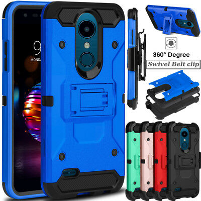 For LG Xpression Plus / Phoenix Plus Shockproof Clip Hard Armor Phone Case Cover