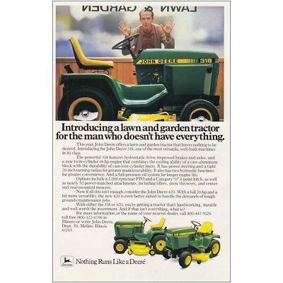 1983 John Deere: Man Who Doesn't Have Everything Vintage Print Ad
