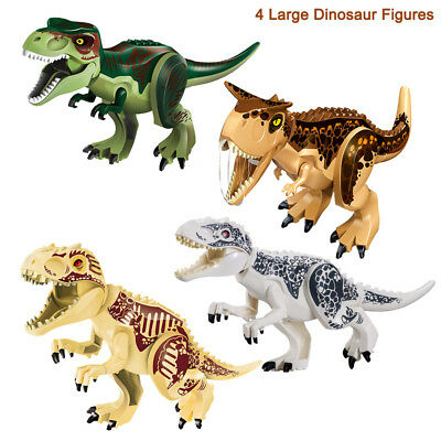 4Pcs Toy Dinosaur Large Rubber Play Figures  Stuffed Action Figure For Kids USA