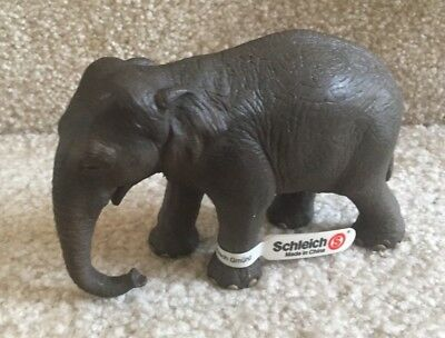 """Schleich  #14344 Asian Elephant Toy Figurine Animal - 3""""  Retired FREE SHIPPING"""