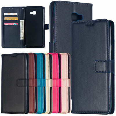 For Samsung J4 J6 Plus J8 2018 Magnetic PU Leather Flip Wallet Stand Case Cover