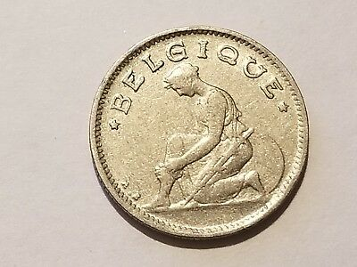 1928 Belgium 50 Centimes - Albert I, French Text
