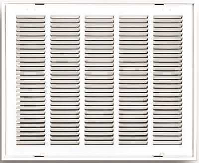 """Truaire Stamped Return Air Filter Grille, Hinged, 20"""" X 20"""", White"""