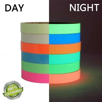 4M Glow In The Dark Sticky Tape Self Adhesive Luminous Saftey Film Sticker Roll