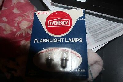 2 Eveready PR3  Replacement Lamp Flashlight Bulbs 3 Size D batteries