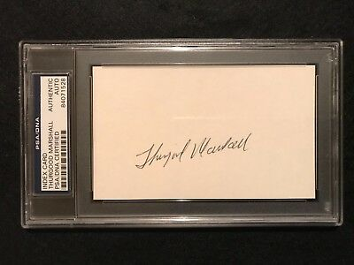 Supreme Court Justice Thurgood Marshall signed card PSA authenticated autograph