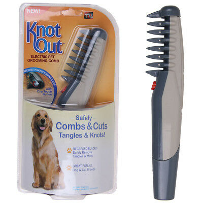 Electric Dog Cat Grooming Comb Pet Hair Scissor Trimmer Tangles Tool FR