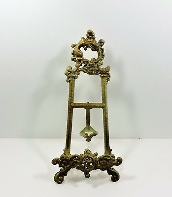 Antique Gold Ornate Cast Iron Easel Stand