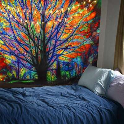 Art Colorful Tree Tapestry Home Wall Hanging Bedspread Tapestry Wall Art Decor
