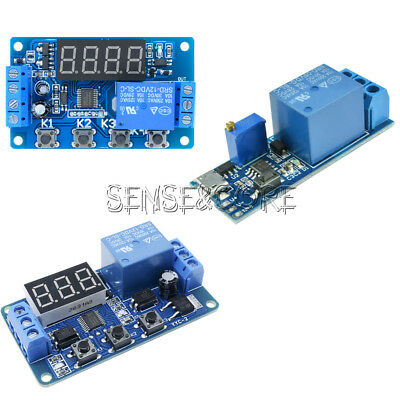 DC12V/Micro USB 5-30V Trigger Cycle Delay Timer Control Relay Switch Module