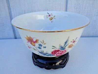 Vintage NEW AVON Porcelain Bowl with Display Stand Japan Independence Day 1981