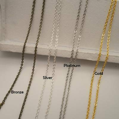1~2.8mm (wide) Brass Open Link Metal Chain Cable Jewelry Making DIY Finding