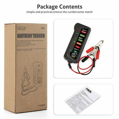 12V Digital Car Battery Tester Ancel Alternator Motorcycle Battery Tester RG
