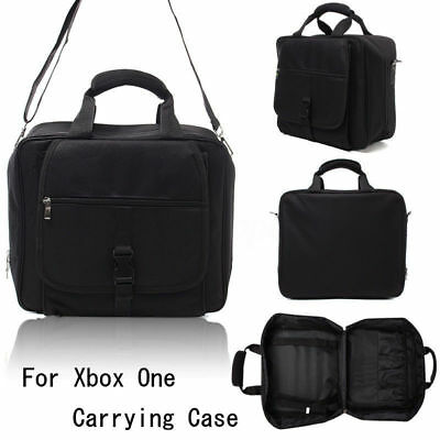 Black Storage BagFor Xbox One X Carrying Case Console Video Game Disc Travel Bag