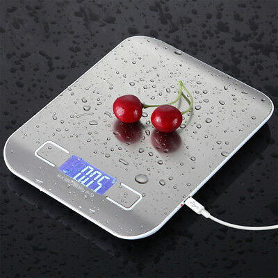 New 5KG 10KG/1g Digital Scale Kitchen Measure Stainless Steel Electronic Weight