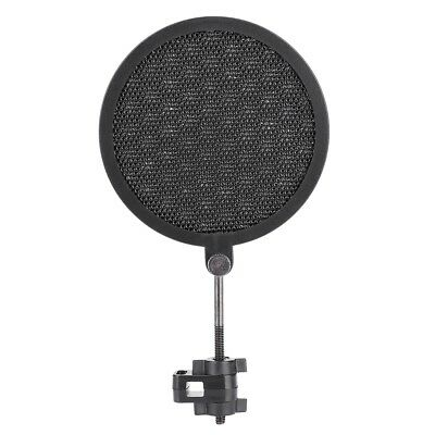 1pc 8cm Mini Double Layer Studio Microphone Wind Shield 360° Pop Filter w/ Mount