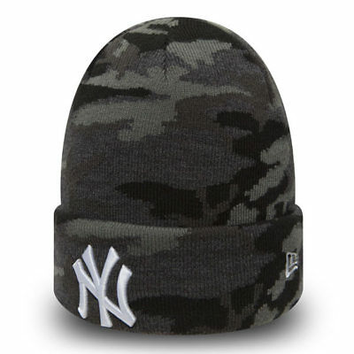 Cappello invernale New Era MLB New York Yankees Essential Knit Grey  Camo 4fd8678389f2