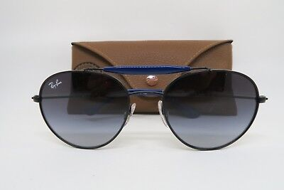 d1033f9619 New Ray Ban Jr KIDS RJ9542S 267 8G Black w  Blue Sunglasses 50mm with