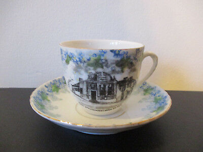 Circa 1910 Souvenir Cup Saucer Post Office Skibbereen  Cork County Ireland *