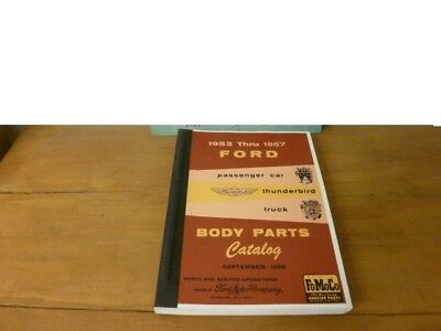 Ford Body Parts Catalog F100 Thunderbird