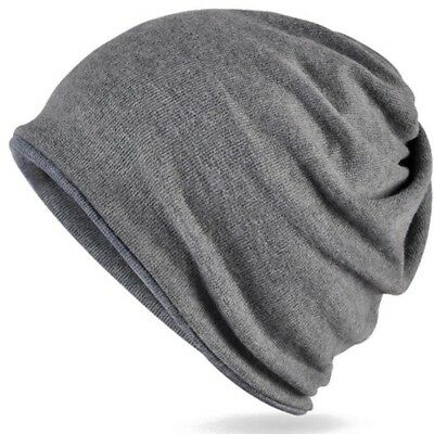 a7bdd018d3c Scarf Hats Double Layer Fabric Mens Winter Beanie New Fashion Solid Winter  Hat