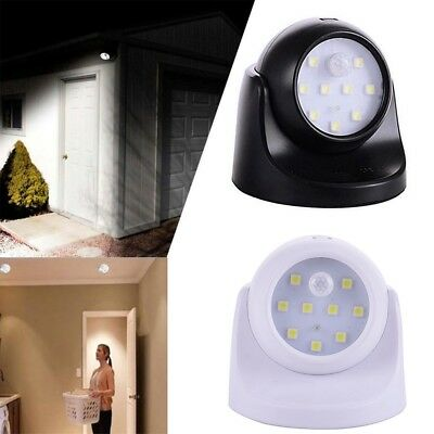 UK 360° Battery Operated Indoor Outdoor Garden Motion Sensor Security LED Light