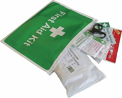 Vehicle First Aid Kit in Vinyl Zipper Wallet - Car and Taxi First Aid Kit