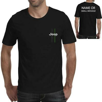 Stripes Jeep  inspired Printed T-Shirt Personalised Classic 4X4 Offroad Car
