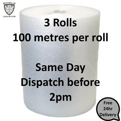Quality Branded Small Bubble Wrap 3 Rolls of 500mm x 100m 24hr Delivery Included