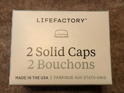 Lifefactory - Solid Caps White BPA-free - Pack of 2
