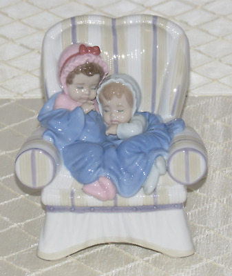 Lladro My Two Little Treasures Figurine 1008717.new In Box