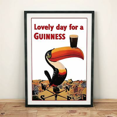 Lovely Day for a Guinness - Beer/Drinks Advertising Vintage Poster