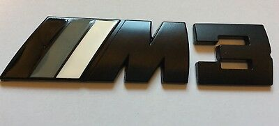 M Power Sport M-3 Boot Black Metal Badge Emblem Bmw Series1 2 3 4 5 6 7 X3 X5 X6