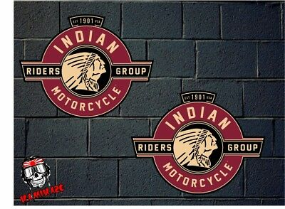 Pegatina Sticker Autocollant Adesivi Aufkleber Decal 2X  Indian Motorcycle