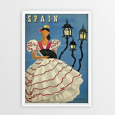 Spain Vintage Travel Poster wall art A4 A3 A5 Print Tourism