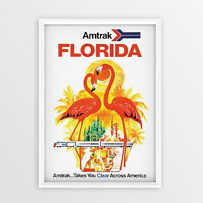 Florida Vintage Travel Poster Print classic wall art Retro