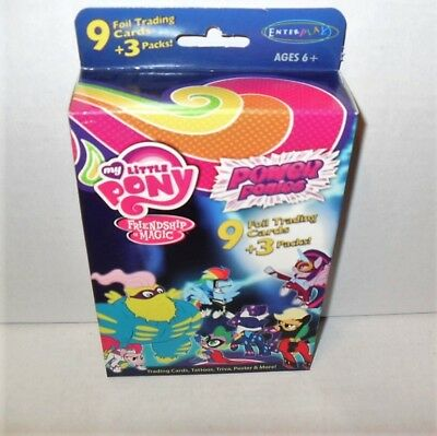 My Little Pony Power Ponies 9 Foil Cards & 3 Trading Card Packs Series 3 New