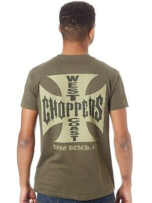 West Coast Choppers Solid Khaki OG Cross T-Shirt