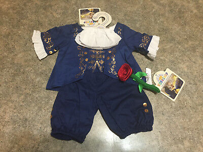NEW! Build a Bear Disney Beauty & the Beast Ballroom Costume and Red Rose BABW
