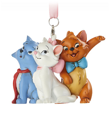 Disney Parks Aristocats Marie Berlioz Toulouse Holiday Christmas Ornament NEW