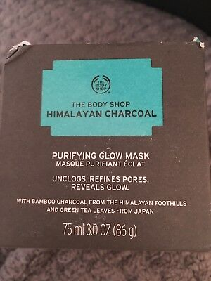 The Body Shop HIMALAYAN CHARCOAL Glow Mask NEW 3.0 OZ In BOX