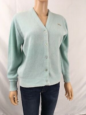 Vintage Haymaker Lacoste Women s Pale Blue Green Cardigan Sweater 38 US  Medium c1ac856d5