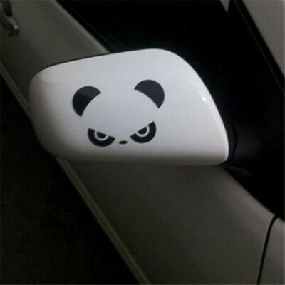 Car Rear View Mirror PVC Decals Panda Eyes Creative Stickers Decals Decor CB