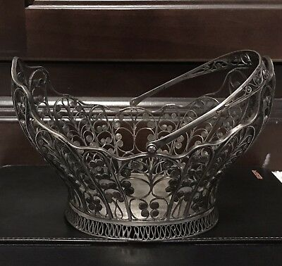 Antique Solid Silver  Basket From Europe (XIX Century) - 280 Gram
