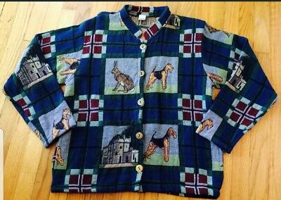 Airedale, Lakeland and Welsh Terrier dog Ladies Jacket  size large