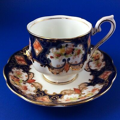 Royal Albert Crown China Derby -Imari  Style- Tea Cup And Saucer